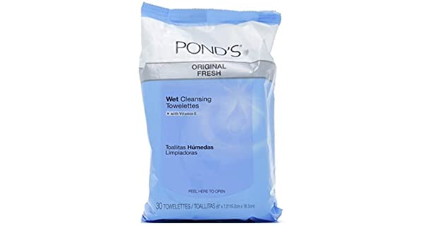 Amazon.com: Ponds Wet Cleansing Towelettes, Original Clean, 30 ea by Ponds: Beauty