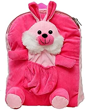 PRACHI TOYS Cute Rabbit Soft Toy School Bag , Travelling Bag, Picnic Bag, for Kids ( Pink )