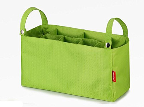 Ancdream Multifuncional bebé pañales Bolsas Organizador Bolsas de cambio para sillas de paseo bebé viaje portátil pañales bolsas para pañales bolsas Insertar Organizador para mamá con 7 bolsillos gris verde