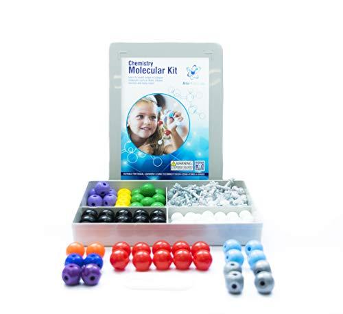 Chemistry Model Kit (239 Pieces) | Molecular 3D Modeling Kit | Organic & Inorganic Atoms & Bonds | Instructional Guide for Students Kids Teachers