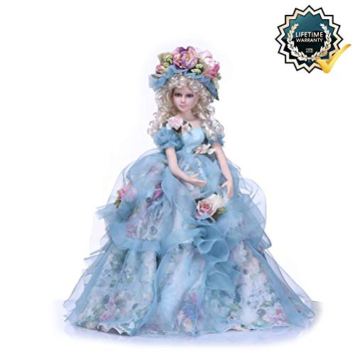 Binxing Toys 1/3 BJD Doll Girl 24in. 60cm Victorian Doll Decoration 19 Ball Jointed Dolls with Clothes Face Make Up Wig for