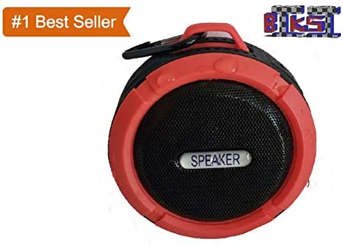 Biksi B8-Professional Speaker with Multi Function 3D Stereo Sound, Works as Mini Woofers, Wireless Water Proof Bluetooth Speaker with Long Battery Back Up Color Orange