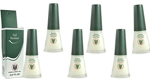 Price comparison product image QUIMICA ALEMANA Nail Hardener (protective barrier prevents chipping, peeling and splitting) - Size 0.47 Fl.oz (Pack of 6)