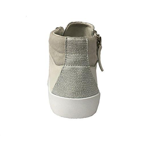 CRIME LONDON scarpa donna ghiaccio/argento multimateriale mod 25121S17B 100% pelle 41