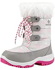 DREAM PAIRS Boys Girls Toddler/Little Kid/Big Kid Waterproof Winter Snow Boots