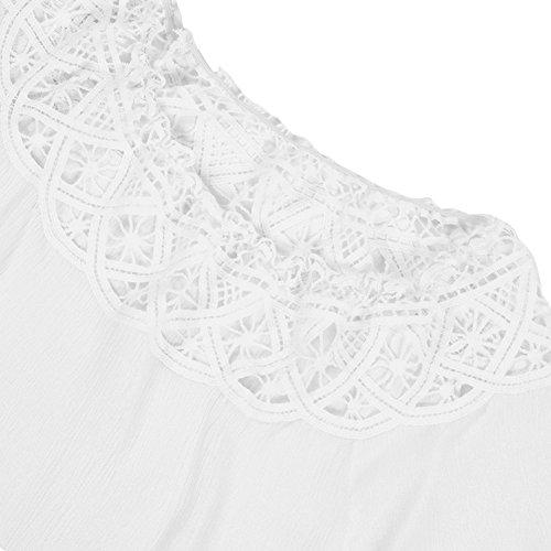 LAEMILIA Femme Tee-shirt Eté Manches Courtes Blouse Casual Tops T-shirt Dentelle