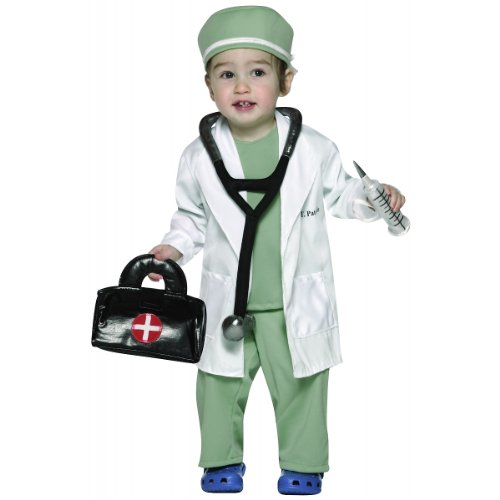 [Rasta Imposta Future Doctor Costume, White/Green, 18-24 Months] (Best 50s Costumes)
