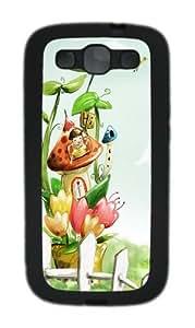 Vector Illustration Cartoon Custom Design Samsung Galaxy S3 Case Cover - TPU - Black
