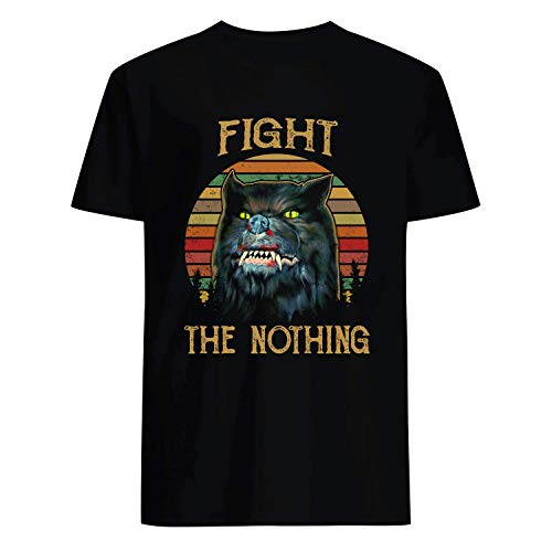 USA 80s TEE Fight The Nothing Shirt Black