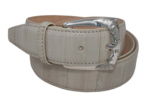 Belt Urso buckle in Sterling silver and Eel Skin by Urso Luxury