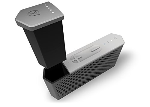 MAQE SOUNDJUMP Aluminum Wireless Bluetooth Speaker with removable magnetic 6000mAh powerbank - Grey