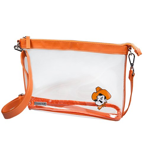 CAPRI DESIGNS CLEARLY FASHION LICENSED CLEAR LARGE CROSSBODY - MEETS STADIUM REQUIREMENTS (Oklahoma State (Osu Stadium)