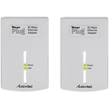 Actiontec MegaPlug 85 Mbps Ethernet Adapter Twin-Pack