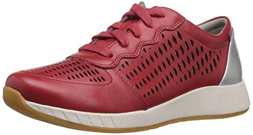 Dansko Womens Charlie Fashion Sneaker In Pelle Rossa