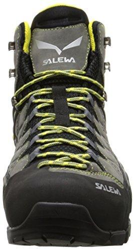 Salewa Mens Alp Flow Mid Gtx Stivali Fumo / Giallo 10 E Fascio Di Guanto E-tip