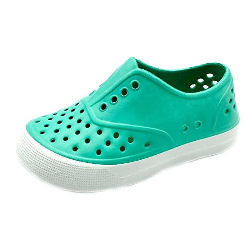 (Kids & Toddler - Boys & Girls Waterproof Breathable Slip On Sneaker | EVA Upper Material and Odor Resistant Footbed with Arch Support | Flexible and Lightweight Synthetic Shoe(1 M, TURQ))