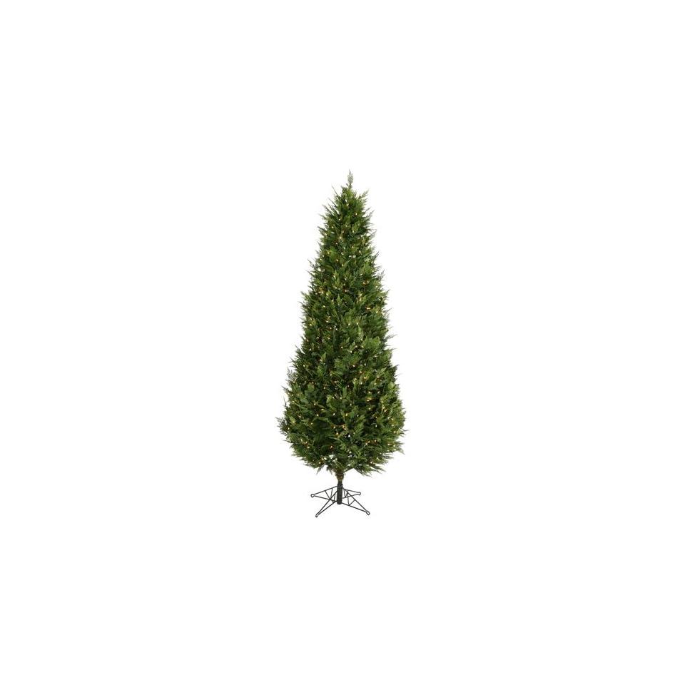 Clear Pre Lit Cedar Fir Christmas Tree