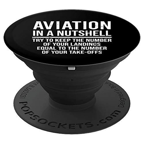 (Funny Pilot Gift Aviation In A Nutshell Aviator - PopSockets Grip and Stand for Phones and)