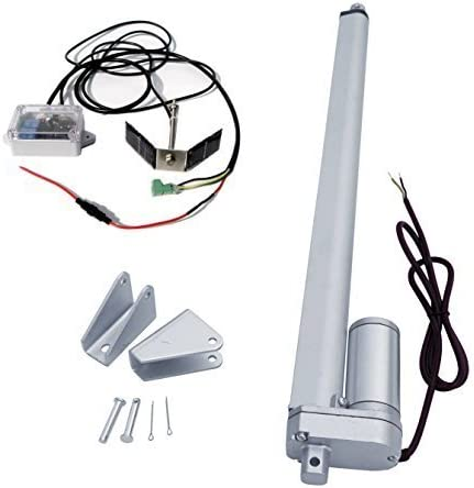 ECO-WORTHY Single Axis Solar Tracker Kit: 12 Volt 18 Inch 18'' Stroke Linear Actuator & Track Controller with Light Sensor