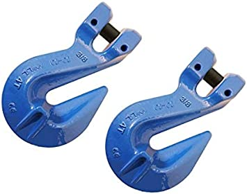 Four 3//8 inch Grade 100 Clevis Cradle Grab Hook 8,800 lbs WLL
