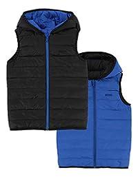 BOSS Boys Reversible Down Puffer Vest, Sizes 6-16