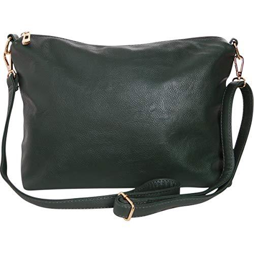 (Humble Chic Crossbody Bag - Vegan Leather Satchel Messenger Handbag Shoulder Purse, Hunter Green, Dark Forest Green, Olive )