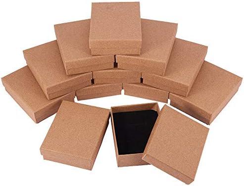 NBEADS - Caja de 12 Cuentas de Cartón de 7 X 9 Cm, Rectangular, para Joyas, Pulseras, Collares, Manualidades, Cumpleaños, Navidad, Festival, Almacenamiento: Amazon.es: Hogar