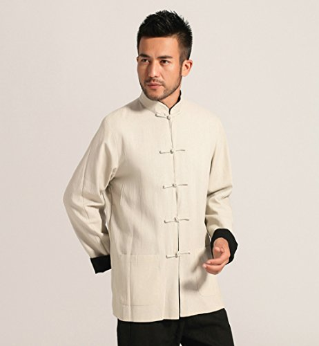 Cotton-flax Tang Suits Double-sided Wear Retro Jackets mens shirts Business Jackets Full Dress by Double-sided Wear Tang Suit (Image #1)