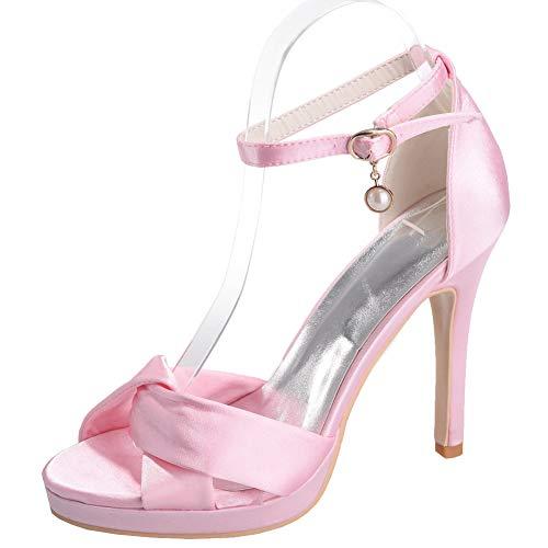 Hlg Haut Talon Hauts D'honneur De À Talons Demoiselle FemmesChaussures Sandales Pink Pour 54RjAL