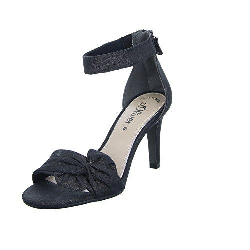 s.OliverDamen Sandalette 55 28350 - Zapatillas altas Mujer Schwarz (Schwarz)