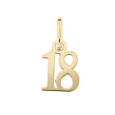 Lucchetta Joyas - Colgante de Oro Amarillo aniversario de 18 ...