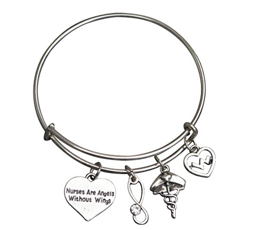 Infinity Collection Nurse Bracelet, Nurse Charm Bracelet, Nurse Bangle- Makes Perfect Nurse -