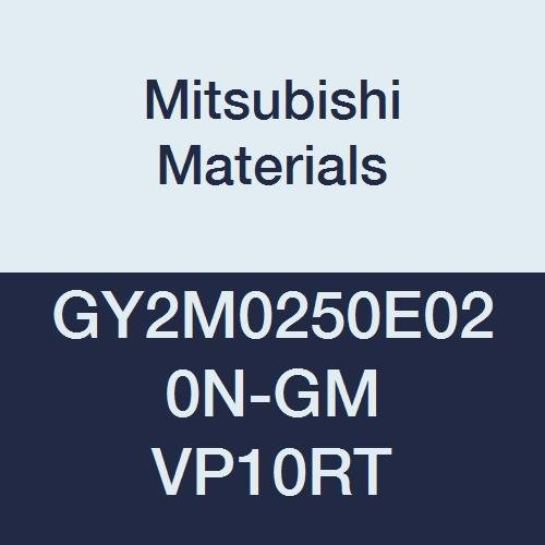 0.098 Grooving Width Mitsubishi Materials GY2M0250E020N-GM VP10RT Carbide Grooving Insert for Medium Feeds Sintered Peripheral 0.008 Corner Radius E Seat Pack of 10 Coated Neutral Hand
