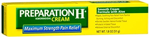 Preparation H Maximum Strength Hemorrhoidal Cream 1.8 oz (Pack of 10) by Preparation H