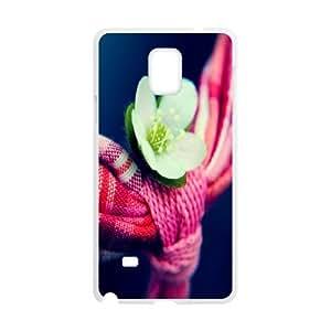 Samsung Galaxy Note 4 Case Little White Flower, - [White] Cathyathome