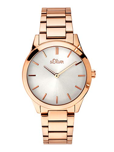 s.Oliver Time Womens Analogue Quartz Watch with Stainless Steel Strap SO-3597-MQ