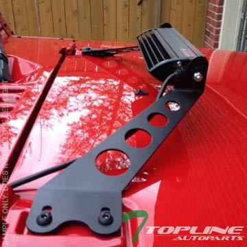 Topline Autopart Black Hood Custom Mount Brackets Rack Kit For 10