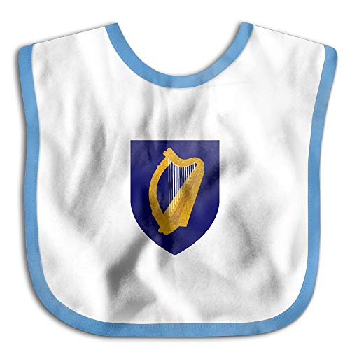 Marima Coat of Arms of Ireland Personalized Scarf Bib Feeding & Teething Fancy Baby Bibs and Burp Cloth Polyester Cotton