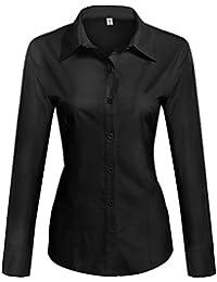 Amazon.com: Black - Blouses & Button-Down Shirts / Tops & Tees ...