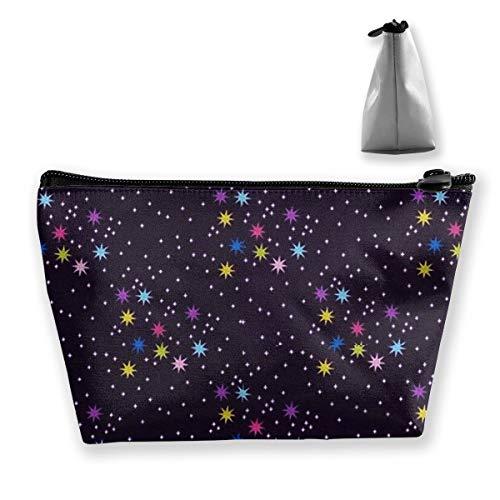 SKYLIHGT Twinkle Star Cosmetic Bag Travel Makeup Bag Portable Accessories Organizer Storage Bag 8.7