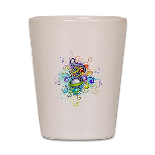 Shot Glass White of Musician Music Note Colorful HD