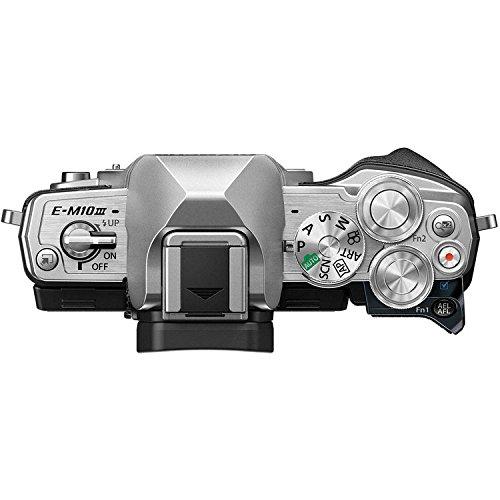 Olympus OM-D E-M10 Mark III (Mark 3) Digital Camera [Silver] + M.Zuiko Digital ED 14-42mm f/3.5-5.6 EZ Lens (Silver) + M.Zuiko Digital ED 40-150mm f/4.0-5.6 R Lens (Silver) by Olympus (Image #5)