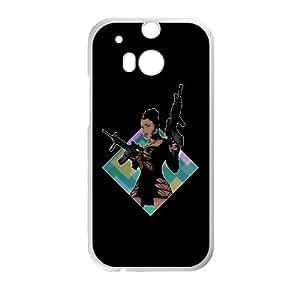 HTC One M8 Cell Phone Case White Nicki Minaj Lookin Ass Machine Guns GHN Bedazzled Cell Phone Cases