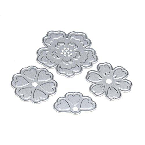 Buy cheap mikey store flower heart metal cutting dies stencils diy scrapbooking album paper card craft