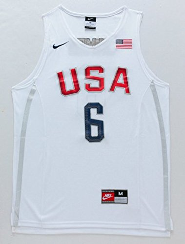 Rio 2016 US Olympic Dream Team Basketball Jersey + get Mr. Sport box as a GIFT (Large, Lebron James)