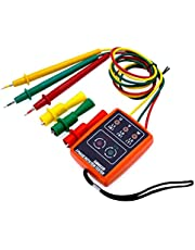 3 Phase Indicator Sequence Tester Rotation Meter SM852B AC 60-600V with LED Buzzer High Accuracy Measurement Tool
