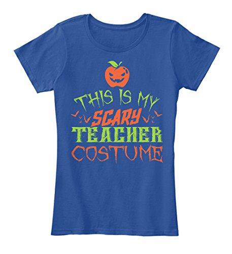 Teespring Teacher Costume Halloween 2016 - Women's - XXX-Large - Deep Royal - 100% combed ringspun cotton - T-Shirt -