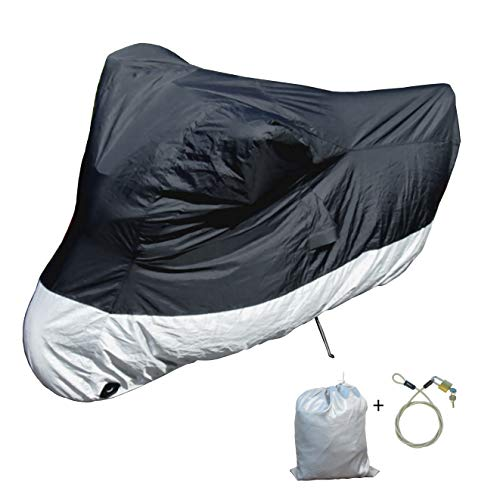 Light Weight Motorcycle cover (L) with cable & lock. Fits up to 84