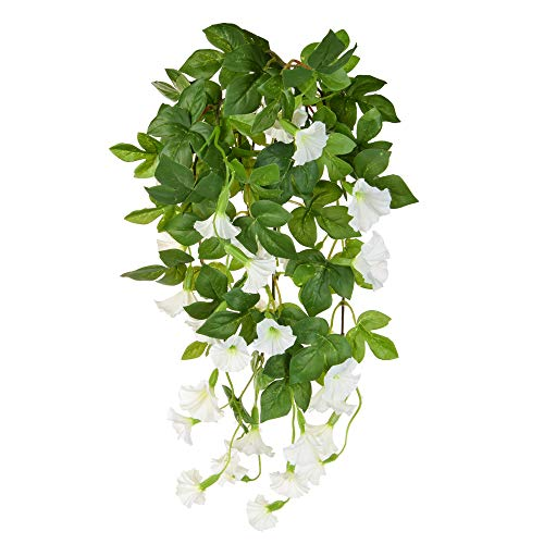 Floristrywarehouse Petunia Bush Artificial Silk Long Trailing 32 Inch White ()