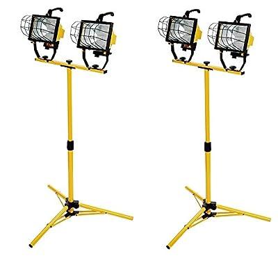 Woods L13 1000-Watt Telescope Worklight, Yellow, 120-Volt (Pack of 2)